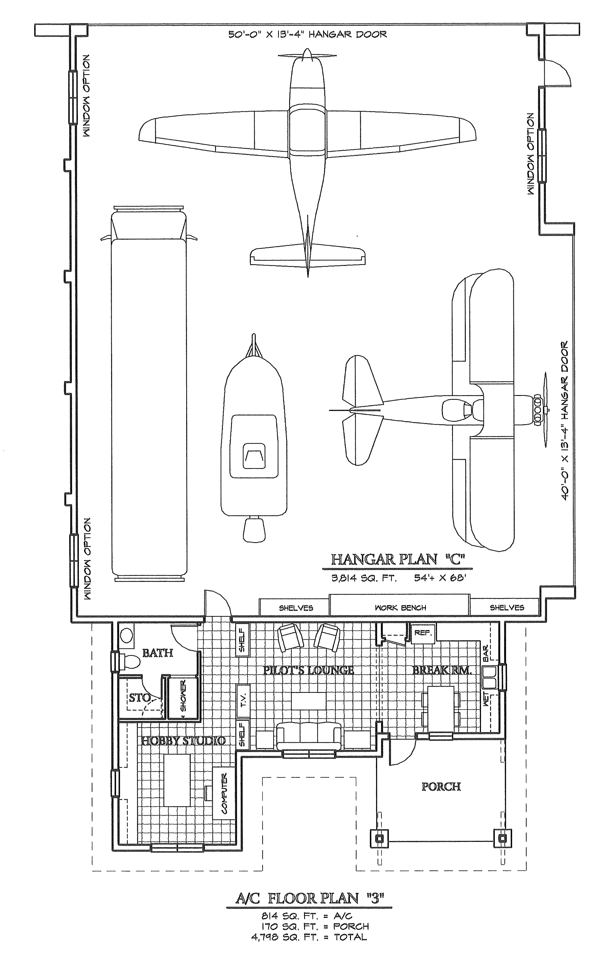 airplane hangar blueprints pictures to pin on pinterest ForHangar Home Plans